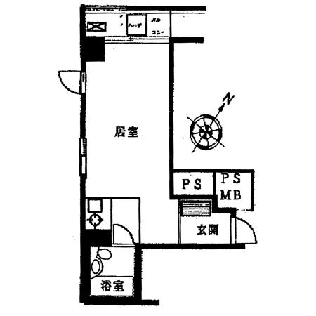 朝日飯田橋マンション 間取図
