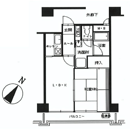 中銀新川マンシオン 間取図