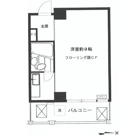 田町センチュリーマンション 間取図