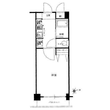 ラグジュアリーアパートメント神楽坂 間取図