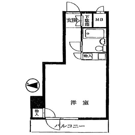 ライオンズプラザ新宿 間取図