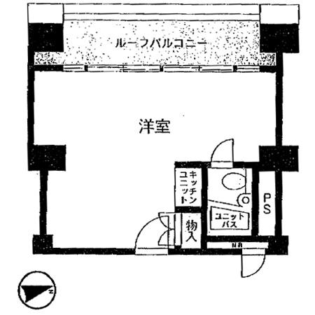 ライオンズマンション歌舞伎町 間取図