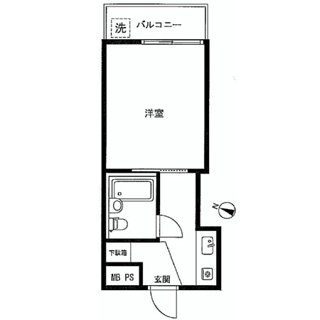 西新宿第2ローヤルコーポ 間取図