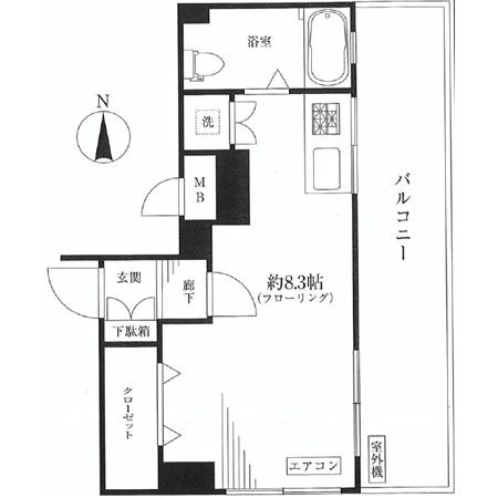 マンション高田馬場 間取図