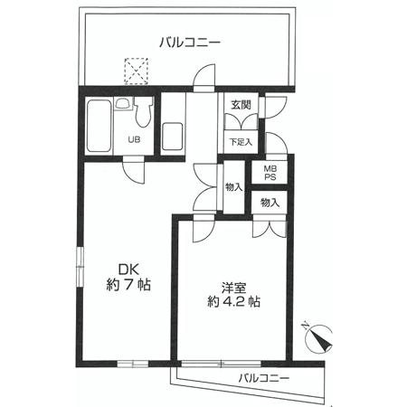 ロイヤルパレス新宿御苑 間取図