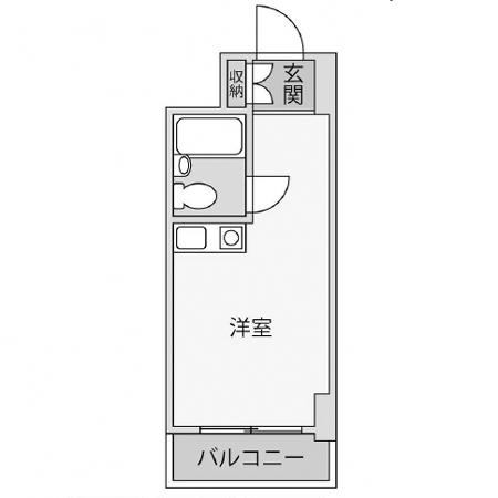 ライオンズマンション新宿第二 間取図