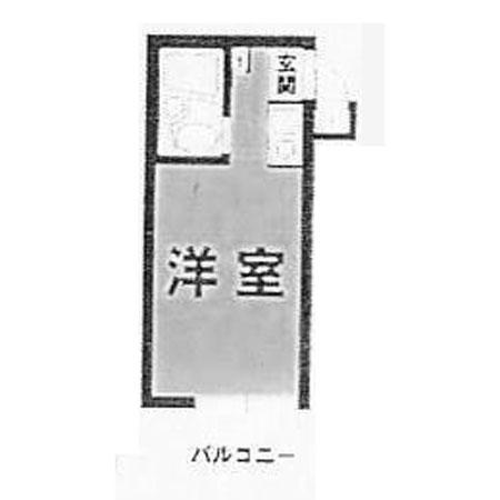 スカイコート新宿 間取図
