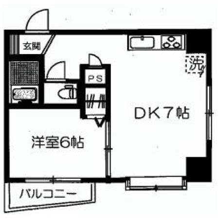 北上野永谷コーポラス 間取図