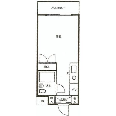 スカイコート蒲田第4 間取図