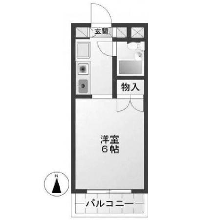 スカイコート蒲田第四 間取図