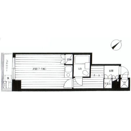 ライオンズマンション東北沢 間取図