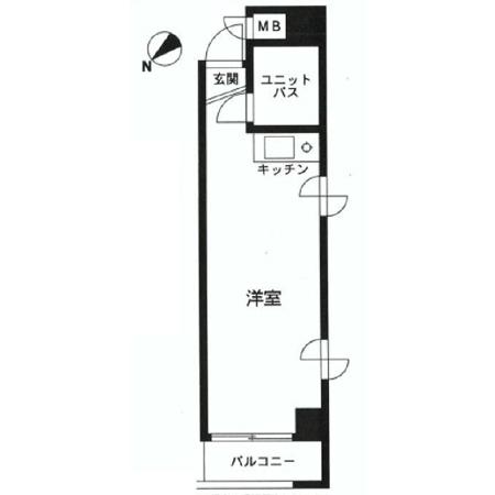 タイガースマンション笹塚 間取図