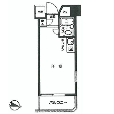 トップルーム新宿公園第2 間取図