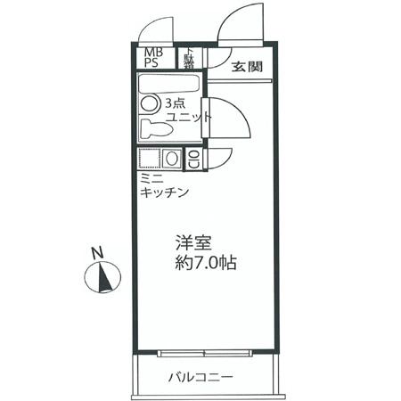 パレ・ドール中野第3 間取図