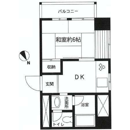 新中野マンション 間取図
