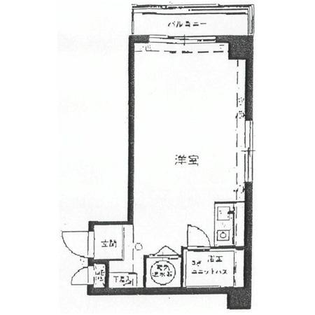 ライオンズマンション中野坂上 間取図