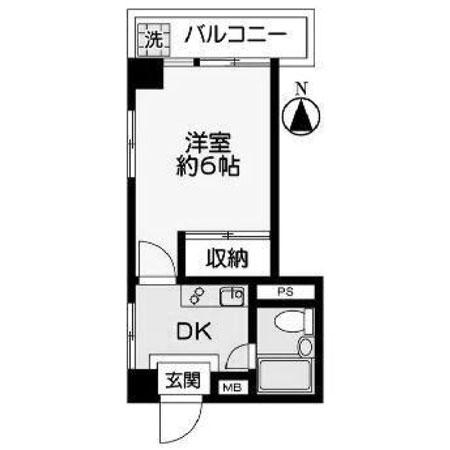 中野永谷マンション 間取図