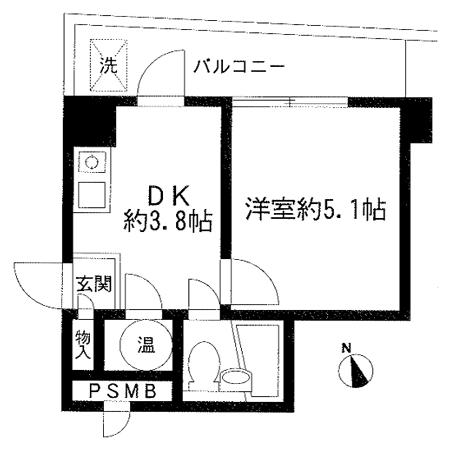 ライオンズマンション西荻窪 間取図