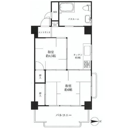 パール高円寺マンション 間取図