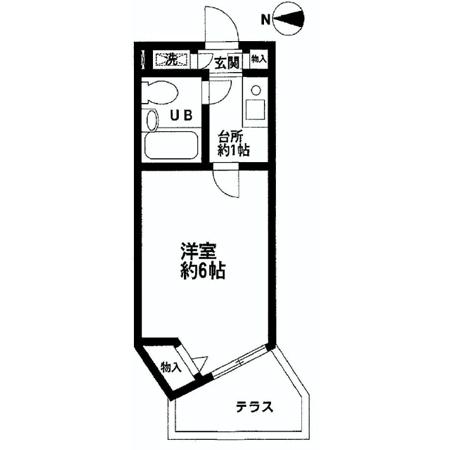 フェニックス芦花公園駅前壱番館 間取図