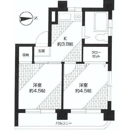 大洋高井戸マンション 間取図