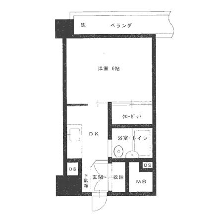三田高島平第3コーポ 間取図