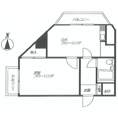 21オギサカ志村坂上 間取図
