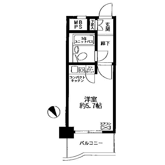 ライオンズマンション中村橋第3 間取図