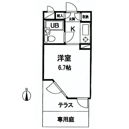 ライオンズマンション武蔵関 間取図
