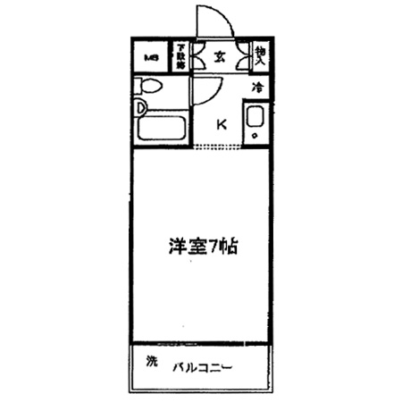 グリーンキャピタル富士見台 間取図