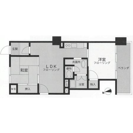 東武西新井サンライトマンション 間取図