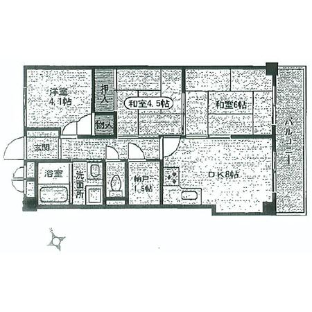 グリーンパーク第5綾瀬 間取図