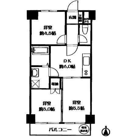 ライオンズマンション西新井 間取図
