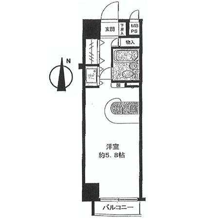 グリーンプラザ北綾瀬Ⅲ 間取図