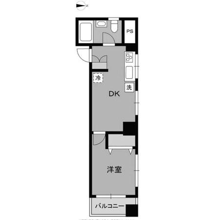 ワコー第9梅田マンション 間取図