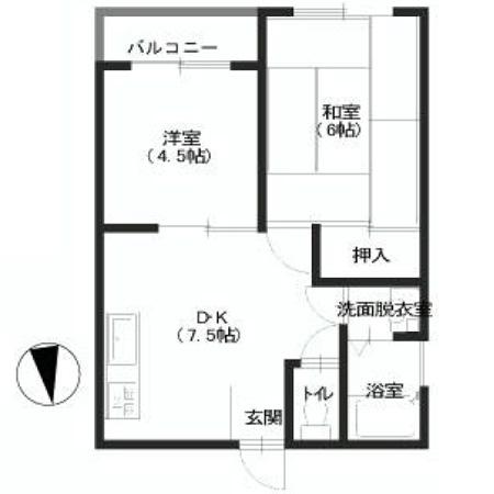 青戸三鈴コーポ 間取図